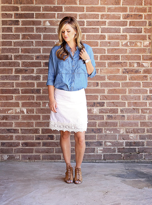 Sunday Style + Chambray and White